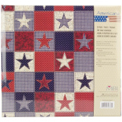 MBI 353134 American Stars Postbound Album 12 in. x 12 in. -