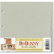 Bo Bunny 3-Ring Bare Naked Binder Pages 23cm by 23cm , 6/Pkg