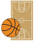 Jolee's By You Dimensional Embellishment-Basketbal