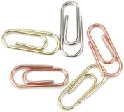 Mini Metal Paper Clips .13cm X.60cm 25/Pkg-Silver, Copper & Brass