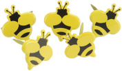 Eyelet Outlet Brads, Bumble Bee 12-Pack Multi-Coloured