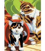 Royal Brush 305421 Mini Paint By Number Kit 5 in. x 7 in. -Kittens-Junior