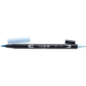 Tombow Dual Brush Marker Open Stock-491 Glacier Bl