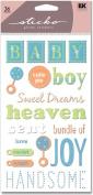 Sticko Glitter Classic Stickers-Baby Boy