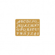 Brass Embossing Stencil 8.3cm x 5.7cm -Letters