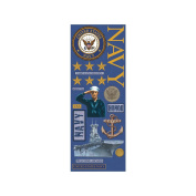 K & Company Military Foil Embossed Stickers, Navy