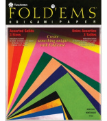 Fold 'Ems Origami Paper 55/Pkg-Assorted Colours