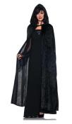 Hooded Cloak Black 55''