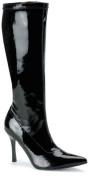 Funtasma Lust-2000 Black Str Pat Knee Boot 3.75 Inch Size 8
