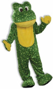 Deluxe Plush Frog Mascot Adult Halloween Costume, Size
