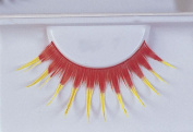 Costumes For All Occasions EA93 Eyelashes Red With Yellow
