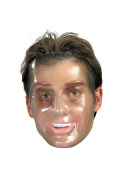 Plastic Young Male Transparent Mask Halloween Accessory
