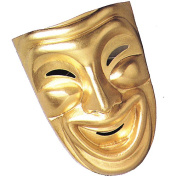 Gold Comedy Mask Adult Halloween Accessory