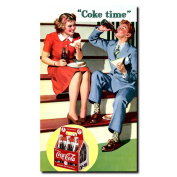 Coke Time Stretched Canvas Art - 14 x 24 Inches