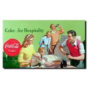Coke for Hospitality Stretched Canvas Art
