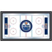 Trademark NHL Edmonton Oilers Framed Hockey Rink Mirror