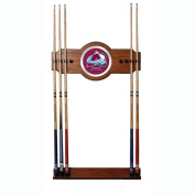 NHL Colorado Avalanche 2 piece Wood and Mirror Wall Cue Rack