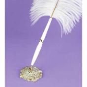 Hortense B. Hewitt 47640 White Plume Filigree Pen Set