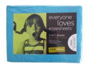 Ezeesheets 2-in-1 Single Sheet Set Turquoise