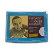 Ezeesheets 2-in-1 King Single Sheet Set Turquoise