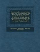 Geschichte Der Sterreichischen Land- Und Forstwirtschaft Und Ihrer Industrien 1848-1898 [GER]