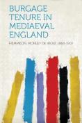 Burgage Tenure in Mediaeval England