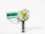 Brussels Crumpled City Map