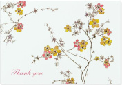 Flowering Vines Thank You Notes