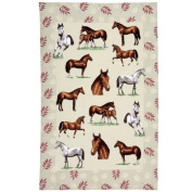 Horses Linen Tea Towel