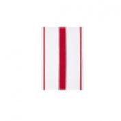 Plain Red Stripe Cotton Waffle Weave Tea Towel