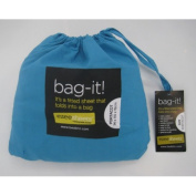 Ezeesheets bag-it! Portacot Fitted Sheet Turquoise