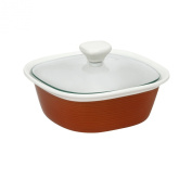 CorningWare Etch 1.4l with Glass Cover in Brick