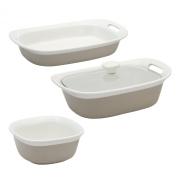 Corningware Etch Sand 4-pc Bakeware Set