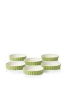 HIC Set of (6) Crème Brulee Dishes, Sage