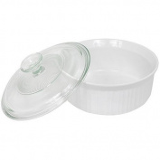 CorningWare French White 1.4l Covered Round Dish with Glass Top