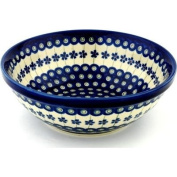Polmedia Polish Pottery 22.9cm Stoneware Bowl H0823A Hand Painted from Zaklady Ceramiczne in Boleslawiec Poland. Shape S940A(GU851A) Pattern P1419A