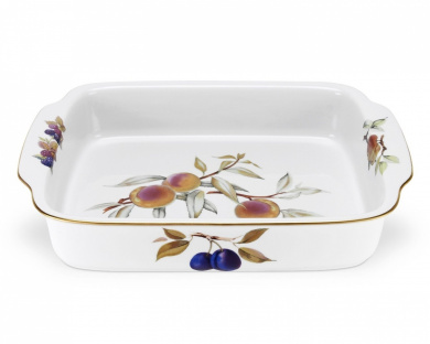 Royal Worcester Evesham Gold Large Rectangular Handled Dish