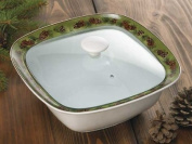 Pinecone Casserole Dish With Lid by Persis Clayton Weirs