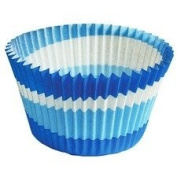 Cupcake Creations Jumbo Baking Cups, 24/pkg, Jumbo Blue Swirls