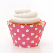 Bubblegum Pink Polka Dots Cupcake Wrappers - Set of 12 - Liner Great Party Favour At Birthdays, Baby Showers & Events