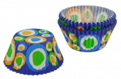 Standard Baking Cups 32/Pkg-Blue Fun Circles