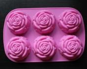 Rose Slicone Cake Mould 6 Capacity Cake pan Baking mould