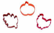 Wilton 3-Piece Harvest Coloured Cookie Cutter Set