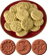 JBK Pottery Cookie Stamp Set - Sky