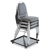 New - Stacking Chair Dolly, 22-1/2w x 22-1/2d, Black by Alera