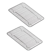NEW, Heavy-Duty 1/4 Size Cooling Rack, Cooling Racks, Wire Pan Grade, Commercial grade, Oven-safe, Chrome, 20.3cm x 25.4cm , Set of 2