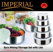 Imperial 5-Piece Bowl Set with Lids