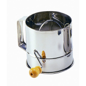 Norpro Polished 3-Cup Stainless Steel Hand Crank Sifter