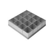 Alan Silverwood 16 piece Square Multi Cake Pan Set 5.1cm