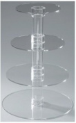 Utenlid® 4-Tier Stacked Party Cupcake and Dessert Tower - Clear Acrylic Cake Stand